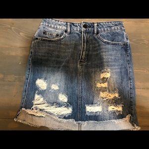 Fifth label distressed denim mini skirt